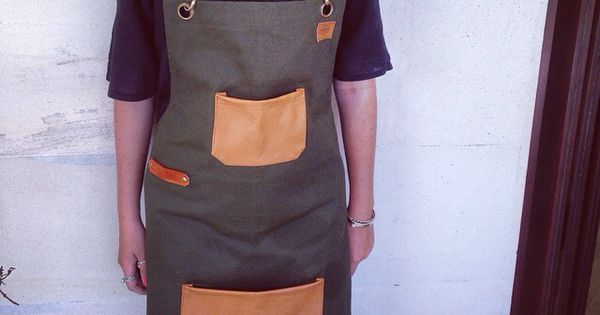 Butcher Aprons - quality handmade genuine leather straps with canvas -  barista, gardener, chef, uniform, baker, cook, carpenter | See more about Aprons, Chefs and Canvases.