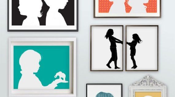 Silhouette portraits... cute idea.