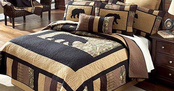 The Camo Bear Quilt Collection Is A Blend Of Modern Day
