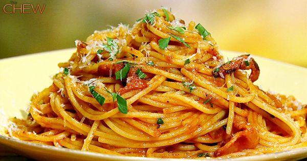 Spicey Pasta - no meat! Mario Batali