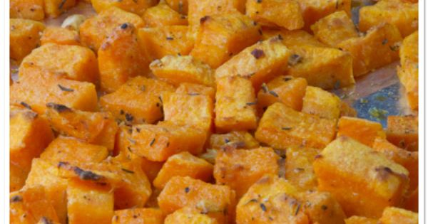 Roasted Parmesan Sweet Potatoes (sweet potatoes, garlic, olive oil, parmesan cheese, dried thyme, salt, & pepper)