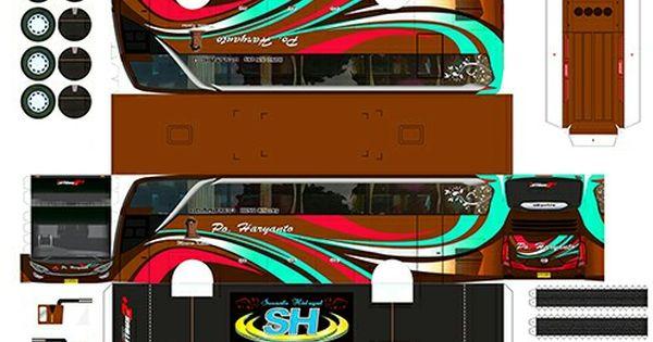 Paper Craft Livery Bus Simulator Mobil Modifikasi Mobil Stiker
