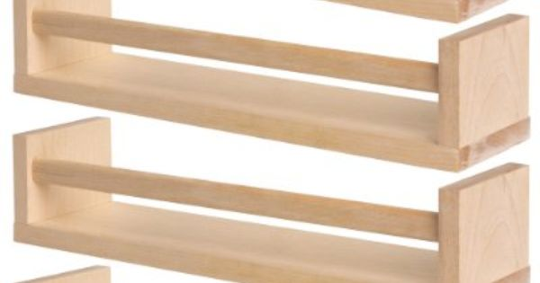 ikea 4 wooden spice rack nursery book holder kids shelf kitchen bathroom accessory storage. Black Bedroom Furniture Sets. Home Design Ideas