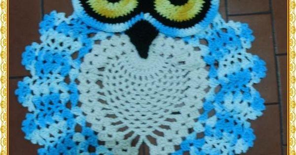Tapete de coruja em croch? - PAP /// Owl rug - crochet ...