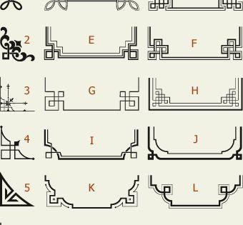 Letterhead Fonts / LHF Corner Specimens / Scrolls and