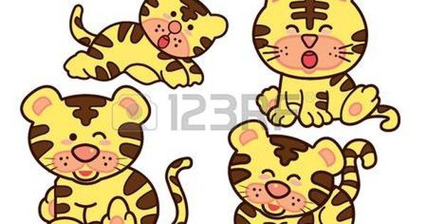Family Tiger Cartoon Character Design Cute Animal Illustration Cartoon Character Design Character Design Cute Animal Illustration