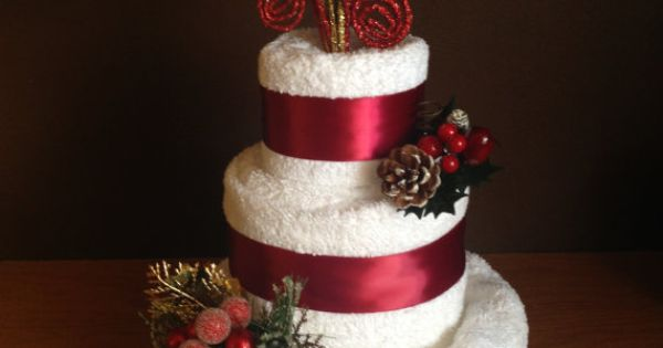 Christmas Bath Towel Cake Elegant and by ...