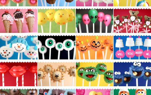 A Million Cake Pop ideas- celebrating 5 years of cake pops with