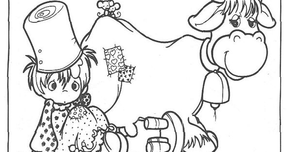 precious moments coloring pages cow - photo#2