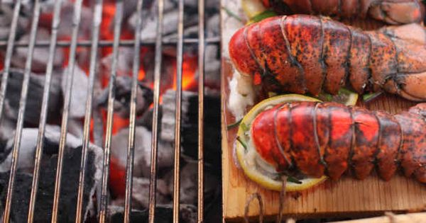 Cedar Planked Lobster Tails. | Scrumptious Eats! | Pinterest | Grilled ...