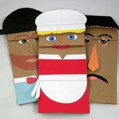 Títeres Con Bolsas De Papel Guía De Manualidades Títeres De Bolsas De Papel Titere De Fieltro Marionetas De Mano