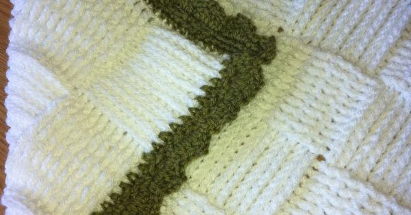 Double Sided Crochet Baby Blanket Pattern : Crocheted baby blanket in a basket weave stitch - double ...