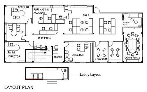 Office layout design office layout plan ideas for the for Interactive office floor plan