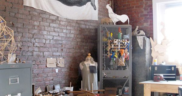 vintage industrial - Lisa You should make a faux exposed brick wall