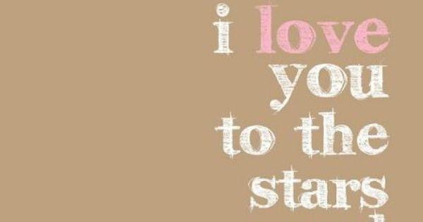 I love you to the stars and moon poster - hardtofind.