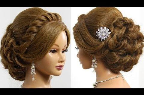 Prom Wedding Updo Romantic Hairstyle For Long Medium Hair Youtube Hair Pinterest