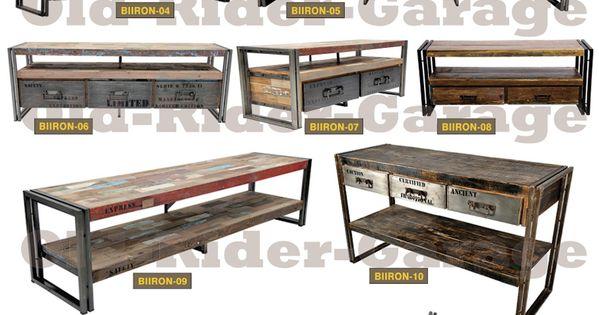 Old rider muebles vintage pinteres - Muebles industriales antiguos ...