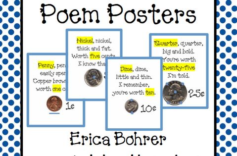Erica Bohrer's First Grade - Love the Touch Money Poem Posters