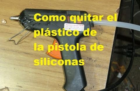 Como quitar el pegamento de la pistola de siliconas - Como quitar silicona ...