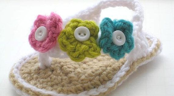 Crochet Sandals Pattern for Baby Baby Flip by CrochetBabyBoutique, $4.99