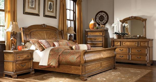Ashley Millennium Quot Clearwater Quot B680 King Sleigh Bedroom