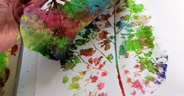 #DIY LEAF ART: Pick leaf or leaves you want to use. Apply