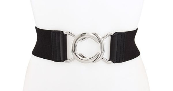 Interlocking Buckle Leopard Print Elastic Cinch Waist Belt Free P/&P