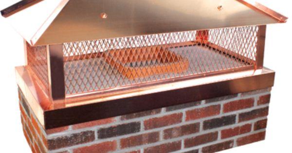 Custom Copper Outside Mount Chimney Cap With Designer Hip Ridge Lid Chimney Cap Copper Roof Custom