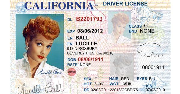 California Driver S License Editable Psd Template Download