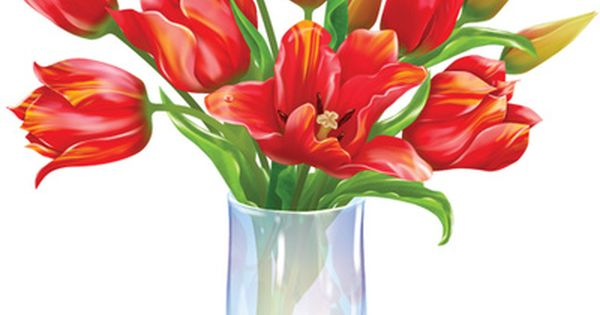Flower Vase Clipart: Flower Bouquet Clipart, Dozen