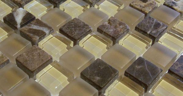 Glasmosaik Naturstein Marmor Fliesen Beige Sand Braun Mocca Mosaik - bad braun beige
