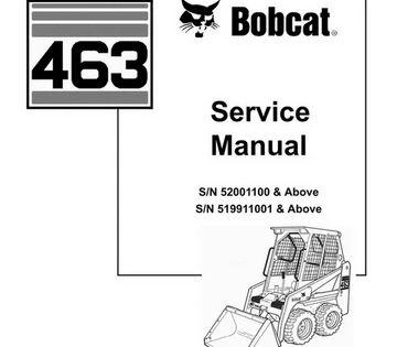 Bobcat 463 Skid Steer Loader Service Manual 6901177 3 06 Skid Steer Loader Relief Valve Service Schedule