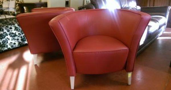 fauteuil rood leder kopen woonkamer peerke meubels in bazaroo