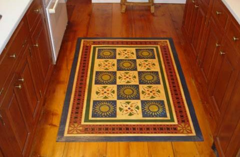 Early American Quilt Floorcloth Floorcloths Pinterest
