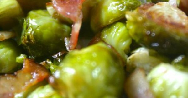Paleo Bacon Brussels Sprouts: 1-2 pounds brussels sprouts, trimmed and cut in