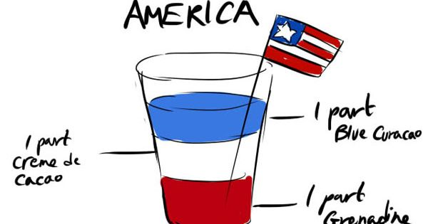 Captain America Cocktail --@Kassy Skoretz here you drink for when your captian