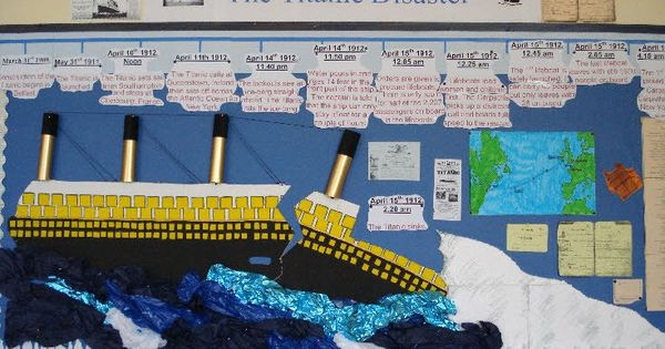Classroom Decoration Bulletin Board ~ Titanic timeline bulletin board idea school