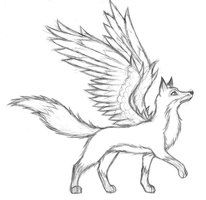 Fox With Wings Fox Drawing Sketches Fox Drawing Tutorial Fox Drawing