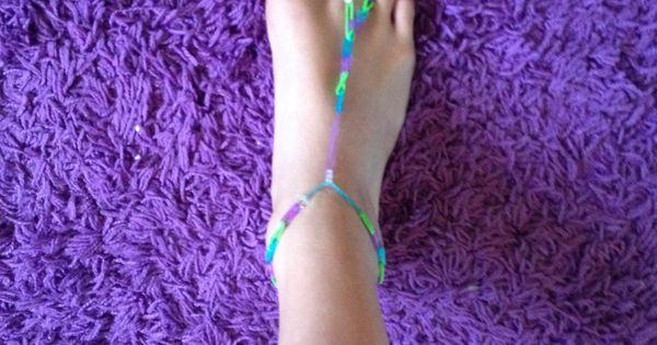 Rainbow Loom Barefoot Sandals Rainbow Loom Pinterest