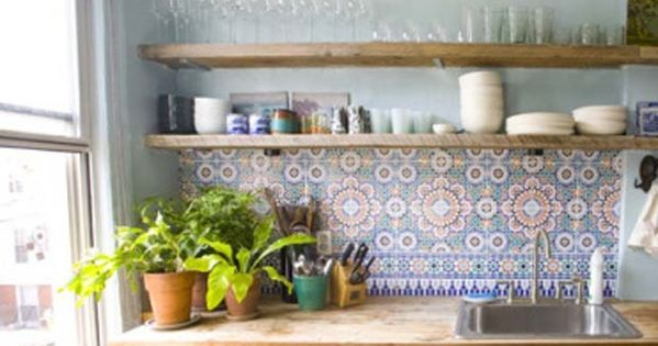 9 moroccan inspired kitchen tiles california home for Moroccan inspired kitchen design