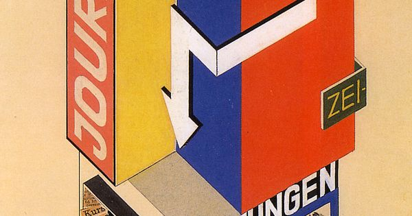 Journale 1924 Bauhaus Herbert Bayer Design Rolled Canvas Giclee Print 24x34 in.