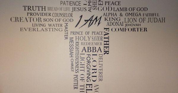 Names Of God Quot I Am Quot Vinyl Design By Debella Wall Words W