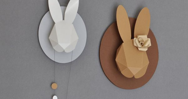 Rabbit Paper Head. Thinking @Nicole Novembrino Novembrino Novembrino Conlay could help me