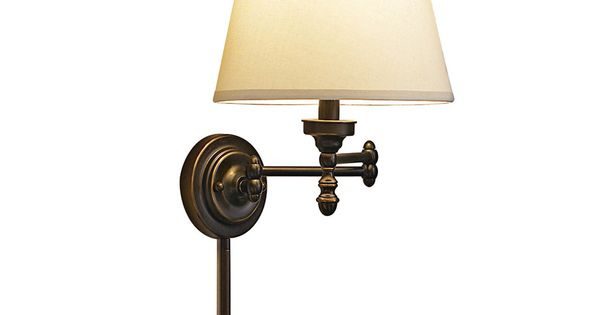 Shop Allen Roth 3 Light Vallymede Brushed Nickel: Shop Allen + Roth 15.62-in H Oil-Rubbed Bronze Swing-Arm