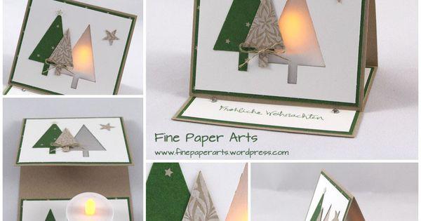 LICHTERKARTE TANNENWALD Heute möchte ich Euch eine weihnachtliche Lichterkarte zeigen. Sie hat