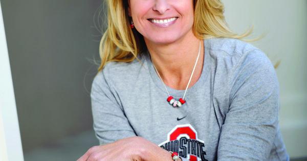 Shelley meyer wife of head coach urban meyer wearing her favorite