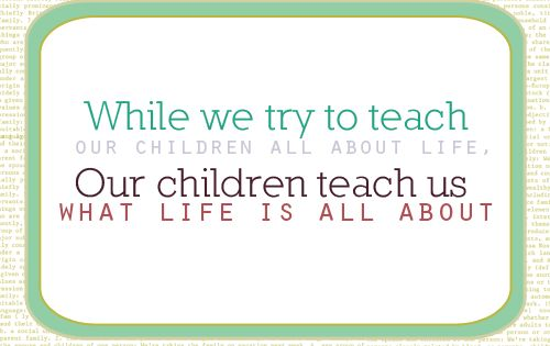Who is teaching who? children life lesson