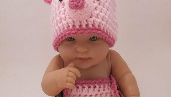 Not sure I could do this to a little baby! Piglet crochet
