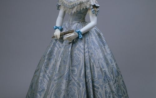 1860s, ball gown, American