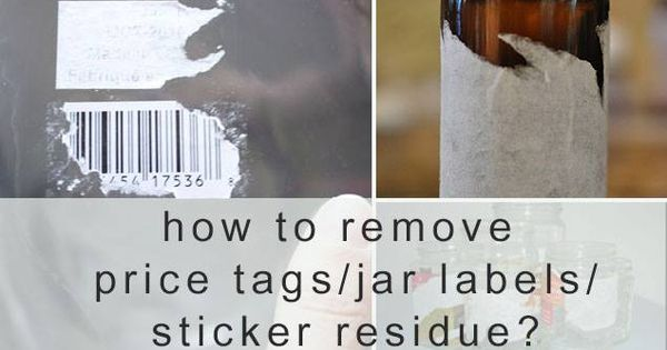 cleaning the labels and the sticky residue off of jars can be an intimidating and time consuming. Black Bedroom Furniture Sets. Home Design Ideas